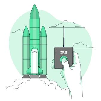 Ilustración de concepto de lanzamiento