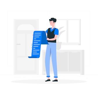 Ilustración del concepto de lectura de lista