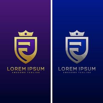 Ilustración de concepto de letra f de lujo
