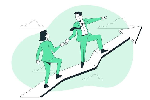 Ilustración de concepto de líderes financieros
