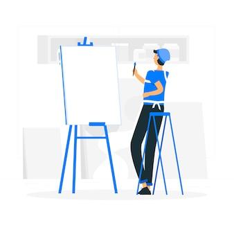 Ilustración del concepto de lienzo en blanco