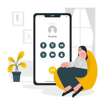 Ilustración del concepto de llamada