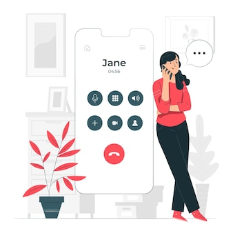 Ilustración del concepto de llamando