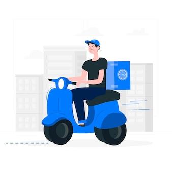 Ilustración del concepto de para llevar