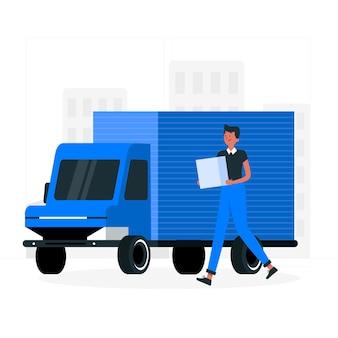 Ilustración del concepto de logística