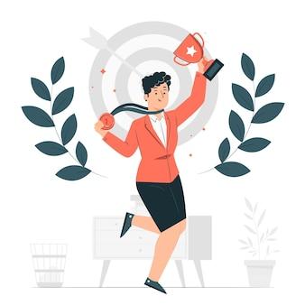 Ilustración del concepto de logro