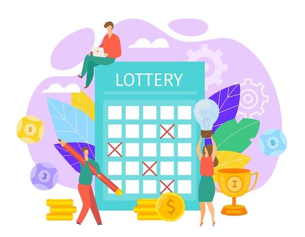 Ilustración del concepto de lotería