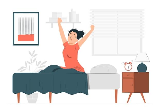 Ilustración del concepto de madrugada