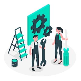 Ilustración de concepto de mantenimiento