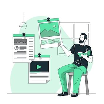 Ilustración del concepto de marcadores