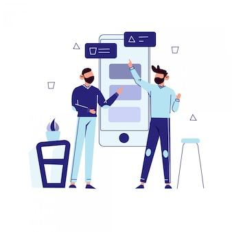 Ilustración del concepto de marketing digital