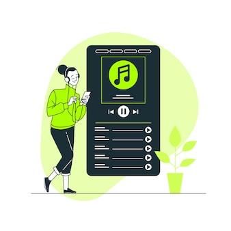 Ilustración del concepto de más música
