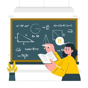 Ilustración del concepto de matemáticas