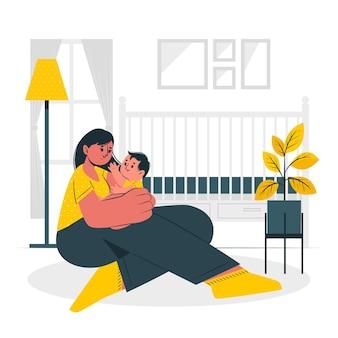 Ilustración del concepto de maternidad