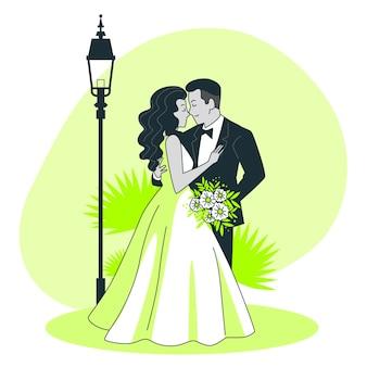 Ilustración del concepto de matrimonio