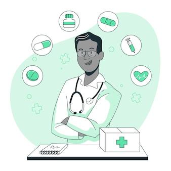 Ilustración del concepto de medicina