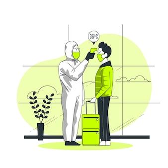 Ilustración del concepto de medición de temperatura