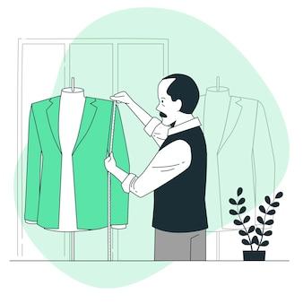 Ilustración del concepto de medida