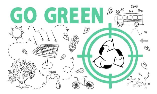 Ilustración del concepto de medio ambiente