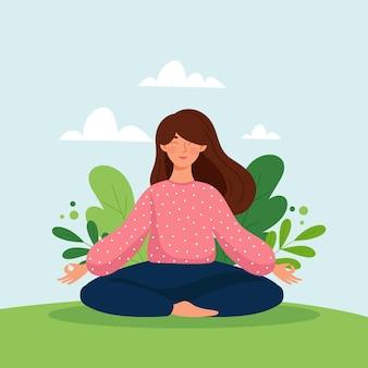 Ilustración del concepto de meditación
