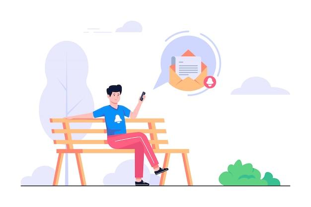 Ilustración de concepto de mensaje nuevo