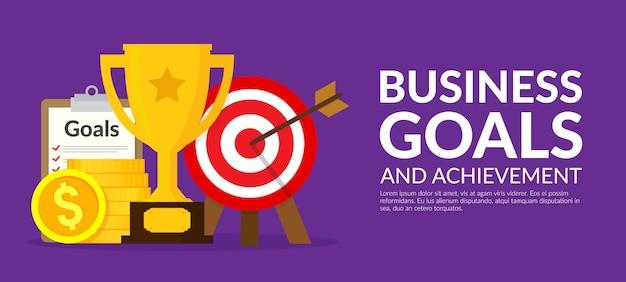 Ilustración del concepto de metas y logros