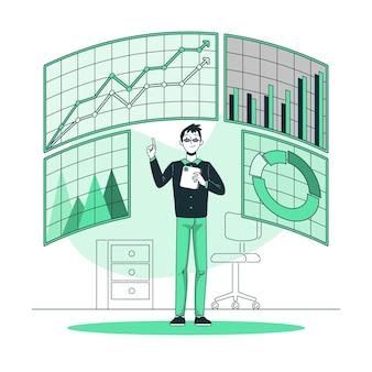 Ilustración del concepto de métricas