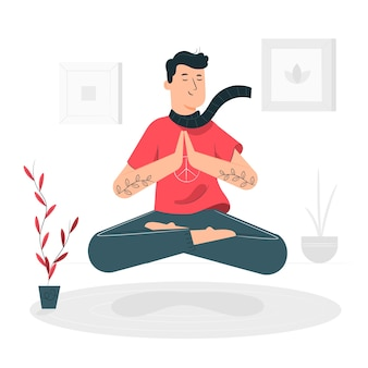 Ilustración de concepto mindfulness