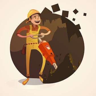 Ilustración del concepto de minería