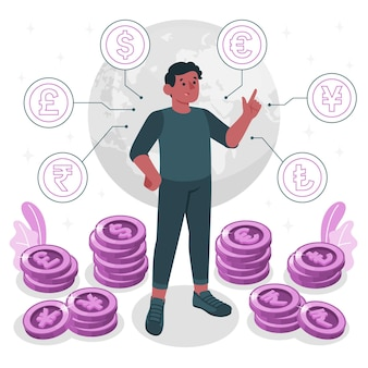 Ilustración del concepto de moneda