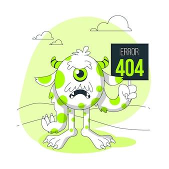 Ilustración del concepto de monstruoerror 404