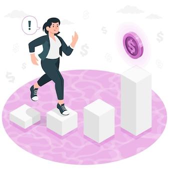 Ilustración de concepto de motivación de dinero