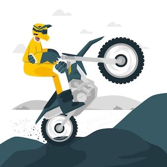 Ilustración del concepto de motocross