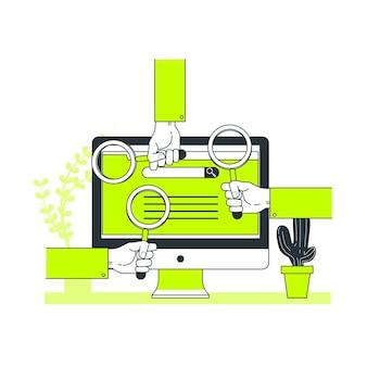 Ilustración de concepto de motores de búsqueda