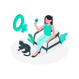 Ilustración de concepto de mujer