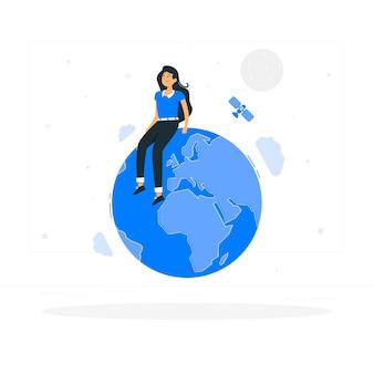 Ilustración del concepto de mundo