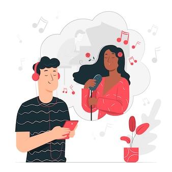 Ilustración del concepto de música