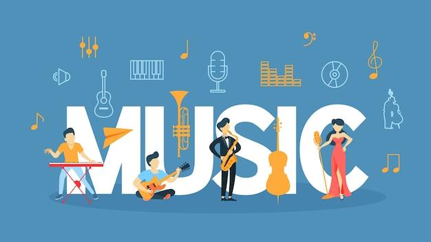 Ilustración del concepto de música.