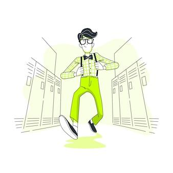 Ilustración del concepto de nerd