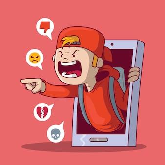 Ilustración de concepto de niño de intimidación