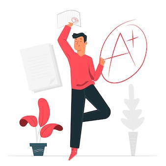 Ilustración del concepto de notas