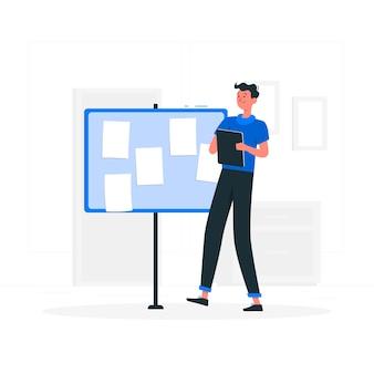 Ilustración de concepto de notas