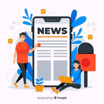Ilustración de concepto de noticias de diseño plano