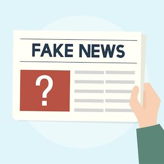 Ilustración del concepto de noticias falsas