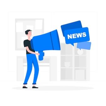 Ilustración del concepto de noticias