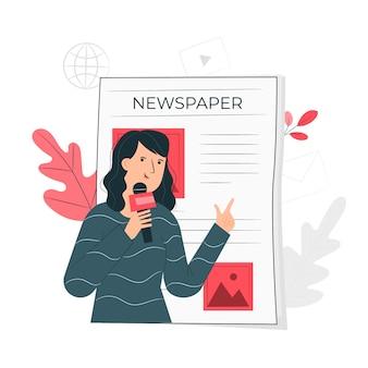 Ilustración de concepto de noticias