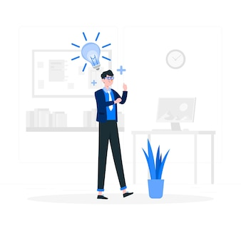 Ilustración del concepto de nueva idea