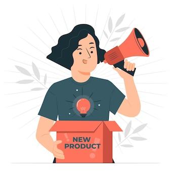 Ilustración de concepto de nuevo producto