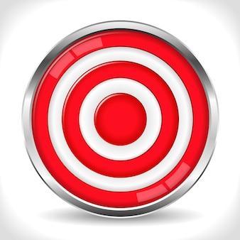 Ilustración de concepto de objetivo rojo