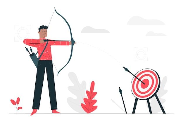 Ilustración del concepto de objetivo